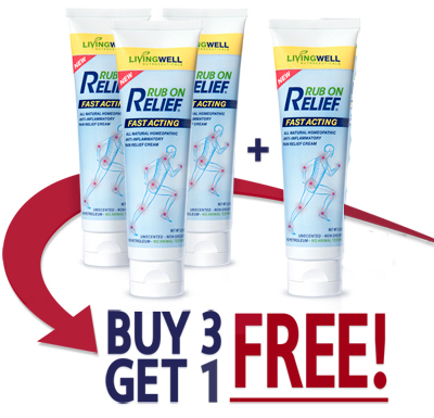 Rub On Relief Buy 3 Get 1 Free ad